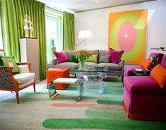 casa con muchos colores