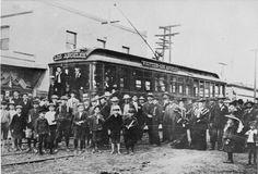 The first Pacific Electric car in Whittier, California in 1904
