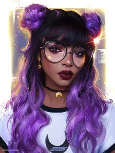 Le plus à jour Instantanés pubg dibujos Réflexions Art Anime Fille, Anime Art Girl, Black Girl Art, Black Women Art, Black Art, Pretty Art, Cute Art, Dibujos Tumblr A Color, Art Magique