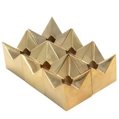 Six Brass Star Candleholders Designed by Pierre Forssell for Skultuna,1960s   1stdibs.com