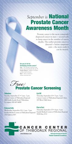 """A new """"twist"""" on a recognizable image - the cancer awareness ribbon crossed with a man's tie. Marketing materials including print ads, posters, flyers, radio, web, and social media were created to promote prostate cancer screening events for Thibodaux Regional Medical Center by TotalCom Marketing, Tuscaloosa, AL."""