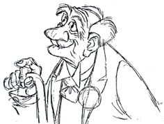 Drawing by Milt Kahl Living Lines Library: The AristoCats (1970) - Model Sheets & Production Drawings