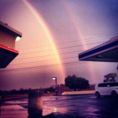 Double rainbow @ AmPm