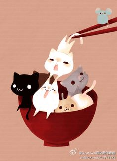 Tazón de gatitos