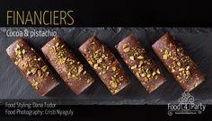 Financiers cocoa pistachio Four, Pistachio, Food Styling, Macarons, Fondant, Cocoa, Gem, Food Photography, Party