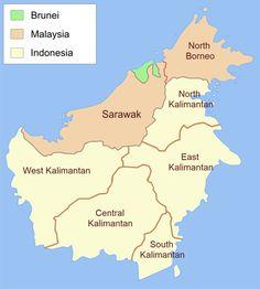 Control of the island of Borneo - Brunéi - Wikipedia, la enciclopedia libre Brunei, Malayan Emergency, Bandar Seri Begawan, Labuan, Kota Kinabalu, Southeast Asia, Country, Maps, Kashmir Map