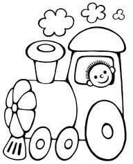 Vehicle coloring pages for babies 10 Train Coloring Pages, Colouring Pages, Coloring Books, Coloring Sheets, Applique Templates, Applique Patterns, Craft Patterns, Hand Embroidery, Embroidery Designs