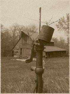 Old pump Old barn
