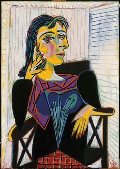 Portrait of Dora Maar by Picasso (1937, Musee Picasso, Paris)