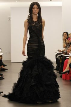 BLack Ruffles  - Vera Wang Spring 2012 Collection
