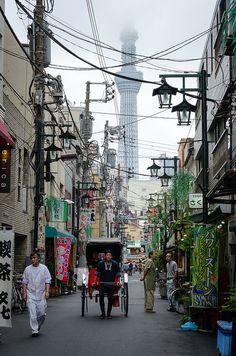 Street level, Tokyo, Japan, 2014, photograph by Benoit Liard.