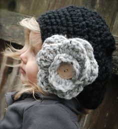 Ravelry: The Madyson Slouchy pattern by Heidi May // love the flower