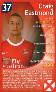 2011 Top Trumps Specials Arsenal #NNO Craig Eastmond Front
