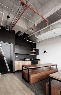 minimalist industrial loft