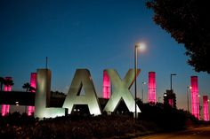 We lit up LAX Airport Gateway Pylonspink for Breast Cancer Awareness Month 2013.