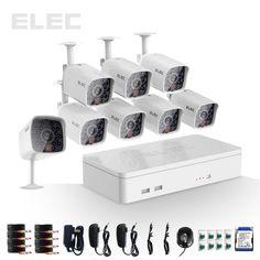 ELEC® 8CH HDMI 960H Outdoor Home 700TVL CCTV DVR Security Camera System kit 1TB  #ELEC