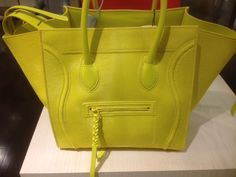 Celine Yellow Citron Pony Phantom Bag
