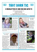 """""""That Darn TIC"""" Kid's Newsletter by the National Tourette Syndrome Association Chronic Illness, Chronic Pain, Darning, Neuroscience, Special Needs, Ocd, Mental Health, Anxiety, Depression"""