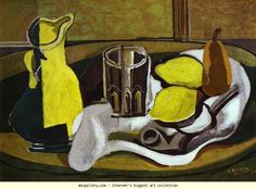 Georges Braque.Lemons. 1929. Oil on canvas. Private collection. Olga's Gallery.