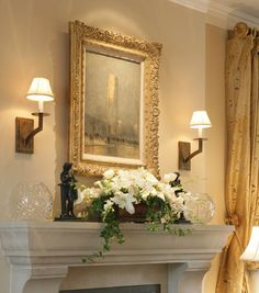 Instructions on Decorating a Mantel with ease. Ensures the right scale for the space.