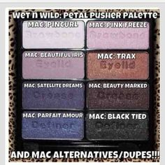 """WetnWild """"Petal Pusher"""" ($5.00 at drugstores) is a perfect dupe for Mac eyeshadows!"""