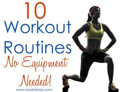 No Equipment Needed Post-Baby Workouts ~ From My Personal Trainer!