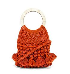 Shop for Cleobella Monaco Tote in Salsa at REVOLVE. Expensive Purses, Womens Designer Bags, Designer Handbags, Popcorn Stitch, Macrame Bag, Craft Bags, Patchwork Bags, Knitted Bags, Revolve Clothing