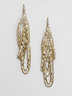ABS by Allen Schwartz Jewelry Double Loop Drop Earrings  $75