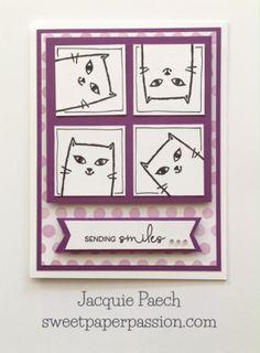 Sweet Paper Passion: For All You Kitty Kats! #WhimsyFundamentals #D1708SendingSmiles-FlowerMarket