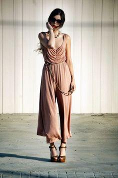 LOVE THIS!  Cotton Weave High Waist Jumpsuit Pant - Sheinside.com