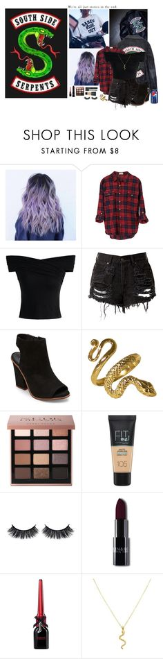 """""""Riverdale"""" by arrowette-845 ❤ liked on Polyvore featuring Hot Topic, Chicwish, Steve Madden, Bobbi Brown Cosmetics, Maybelline and Battington"""