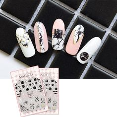3D Nail Art Sticker Adhesive Manicure Decor Tips Ultra-Thin Decals Marble Theme