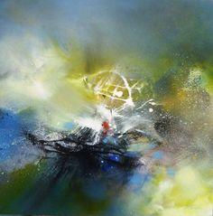 Nom de l'oeuvre : La moitié du bleu /  Dimensions : 100 x 100 cm /  Techniques de réalisation : Mixte /  Date de création : 2011 /  Support : Toile de lin sur châssis /  Tarif : Nous contacter via contact@art-acquisition.com