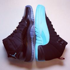 "On the left we have ""Gamma Blue"" 11's, and on the right, ""Gamma Blue"" 12's. Released last year December, and i still want them both!"