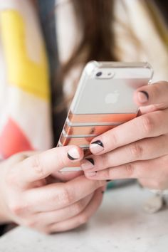 DIY Foil Striped iPhone Case by @cydconverse