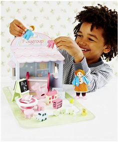Rosebud Wooden Village Play Group for the girls to go with their dolls house