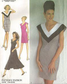 Chevron neck dress  Style sewing pattern  Size 616 by Iam4uk, $11.95