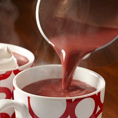 Christmas morning Red Velvet Hot Chocolate Recipe… this looks incredible.