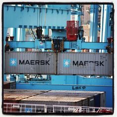 Maersk containers on the move.