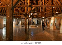 The Laymen's Dormitory, Exhibition Hall, Interior, Noirlac Abbey Stock Photo, Picture And Royalty Free Image. Pic. 24467543