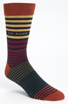 Ted Baker London Stripe Socks (3 for $38) available at #Nordstrom
