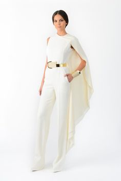 Pin for Later: 26 Risqué Looks For Rebel Brides Stephane Rolland White Jumpsuit Stephane Rolland White Jumpsuit (Price On Request)