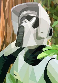 Star Wars - Scout Trooper by Liam Brazier