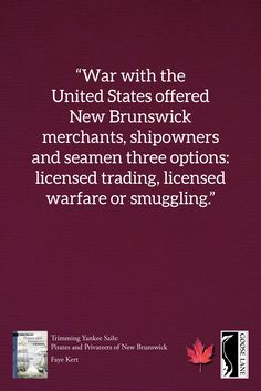 Amid tales of battles at sea and fortunes lost and won, Kert's exposure of the murky context in which these semi-legal marauders operated reveals surprising truths about Confederation and its promoters.