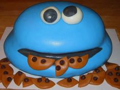 #cookie_monster #cake cream cheese icing