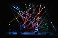 Stage design that uses stretch canvas to project visuals on for the Bjørnsonfestivalen 2010