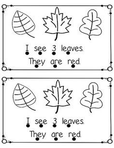 Fall Emergent Reader  (sight words I, see, they, are)