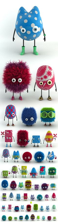 One Thousand Ksoids Project Character Design, Digital Art, Toy Design. Toy Art, Cute Monsters, Little Monsters, Softies, Art Projects, Projects To Try, Deco Kids, Creation Deco, Vinyl Toys