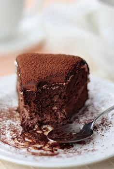 Flourless Chocolate Cake  4 ingredients only Can be filled with chocolate ganache if wanted