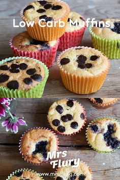 Low Carb Muffins Recipe Mrs Flury simple muffins sugar free & gluten free, gluten free, no sugar add Paleo Dessert, Delicious Desserts, Vegan Breakfast Recipes, Vegan Recipes Easy, Low Carb Recipes, Low Carb Backen, Keto Diet Benefits, Cupcakes, Vegan Crackers